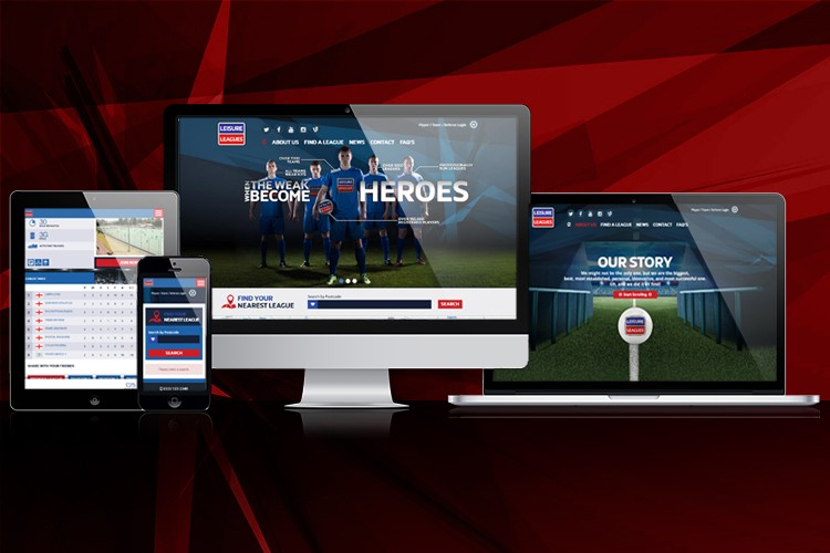 Brand New Leisure Leagues website