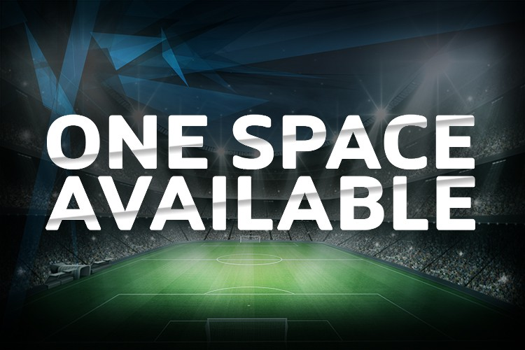 ONE SPACE IN THE LEAGUE - JOIN TODAY!