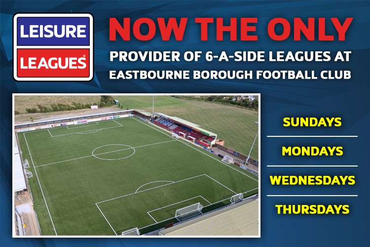 LEISURE LEAGUES TO RUN EASTBOURNE BOROUGH LEAGUES