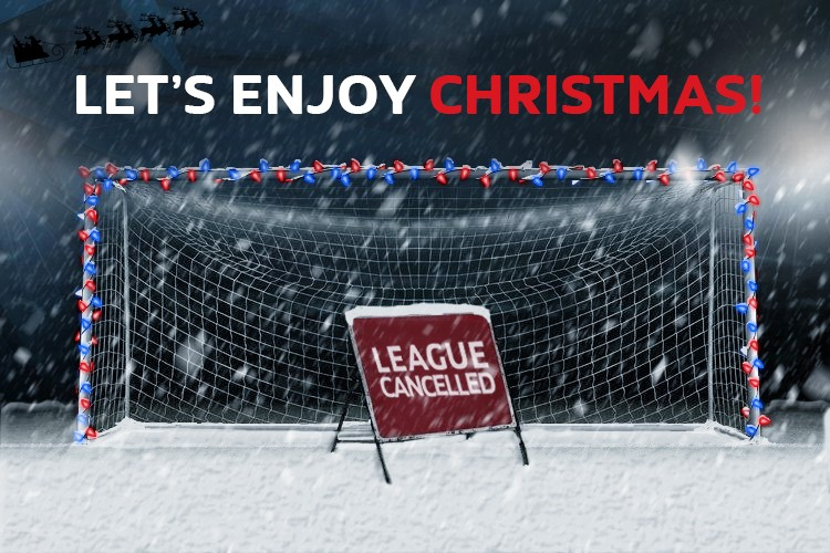 LEAGUE CANCELLED UNTIL MONDAY 6TH JANUARY FOR CHRISTMAS!