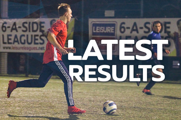 Maidstone 6 a side Wednesday Results!